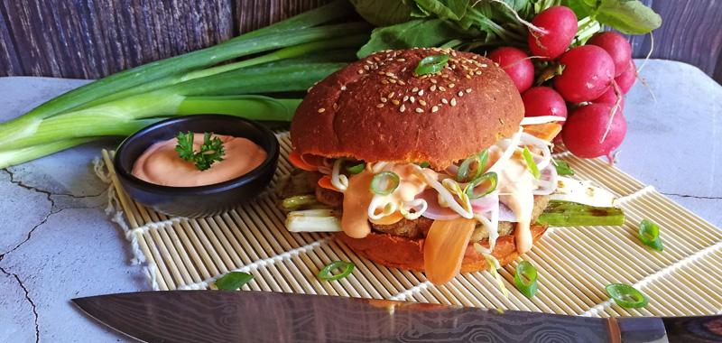 Recept Oosterse Tonijnburger - Thomas Culinair