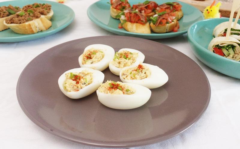 Recept Gevulde eieren met makreel